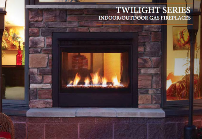 Patio Shop - Fireplace Center | Fireplaces | Heatilator | Twilight Direct Vent Outdoor Gas Fireplace