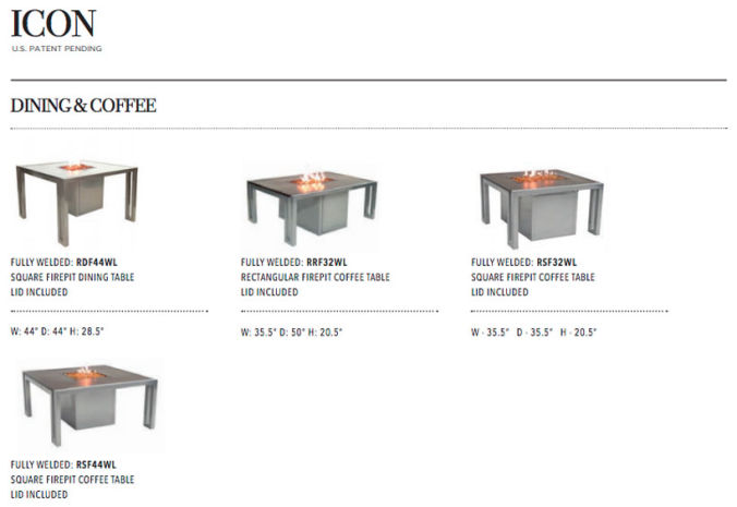 Patio Shop - Fireplace Center | Patio Accessories | Firepits | Pride-Castelle Icon Firepits