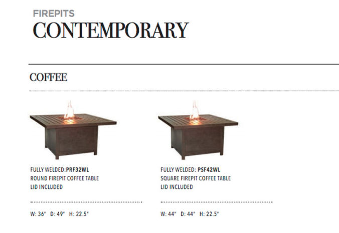 Patio Shop - Fireplace Center | Patio Accessories | Firepits | Pride-Castelle Contemporary Firepits