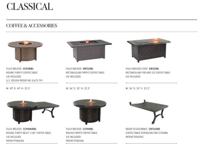 Patio Shop - Fireplace Center | Patio Accessories | Firepits | Pride-Castelle Classical Firepits
