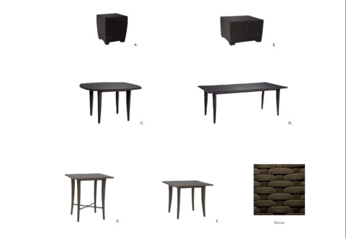 Patio Shop - Fireplace Center | Patio Furniture | Brown Jordan Patio Table Collections | Fusion
