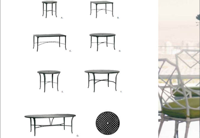 Patio Shop - Fireplace Center | Patio Furniture | Brown Jordan Patio Table Collections | Calcutta