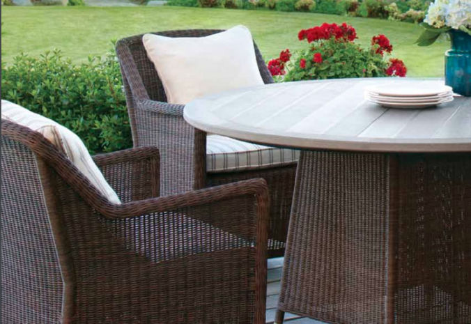 Patio Shop - Fireplace Center | Patio Furniture | Brown Jordan Patio Table Collections | Alternate Table Tops