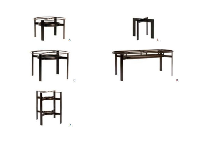 Patio Shop - Fireplace Center | Patio Furniture | Brown Jordan Patio Table Collections | Alternate Bases