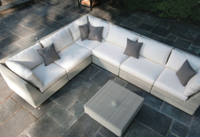Patio Shop - Fireplace Center | Patio Furniture | Kingsley-Bate Patio Furniture | Seating Options Westport Sectional