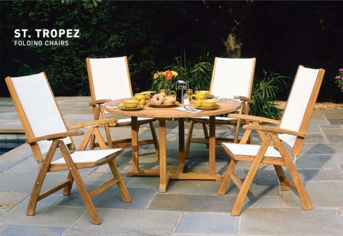 Patio Shop - Fireplace Center | Patio Furniture | Kingsley-Bate Patio Furniture | Seating Options St. Tropez Folding Chairs