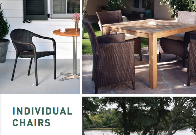 Patio Shop - Fireplace Center | Patio Furniture | Kingsley-Bate Patio Furniture | Dining Sets Individual Chairs