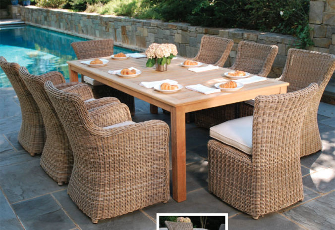 Patio Shop - Fireplace Center | Patio Furniture | Kingsley-Bate Patio Furniture | Dining Sets Sag Harbor
