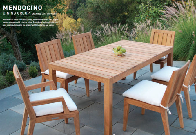 Patio Shop - Fireplace Center | Patio Furniture | Kingsley-Bate Patio Furniture | Dining Sets Mendocino