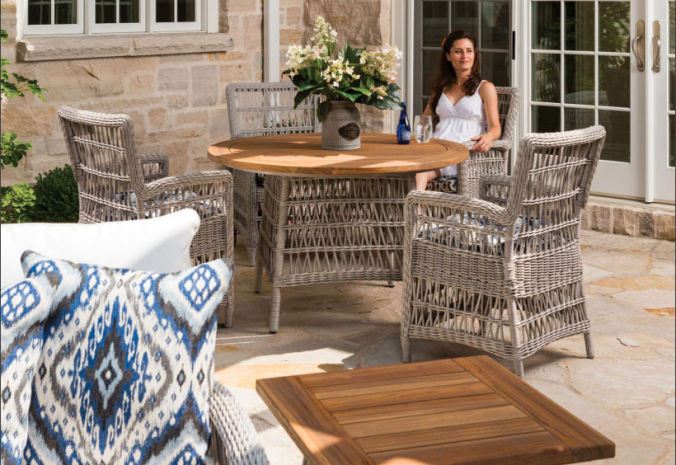 Patio Shop - Fireplace Center | Patio Furniture | Lloyd Flanders Patio Furniture | Dining Collections Mackinac