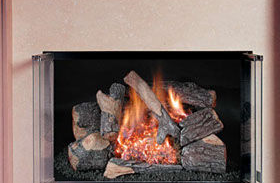 Patio Shop - Fireplace Center | Fireplaces | Rasmussen Gas Logs | Rasmussen Chill-Buster Vent Free Gas Logs