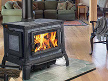 Patio Shop - Fireplace Center | Hearthstone Fireplaces | Equinox Soapstone Wood Stove