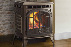 Patio Shop - Fireplace Center | Fireplaces | Quadra-Fire Fireplace Products | Sapphire Gas Fireplace Stove