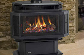 Patio Shop - Fireplace Center | Fireplaces | Quadra-Fire Fireplace Products | Hudson Gas Fireplace Stove