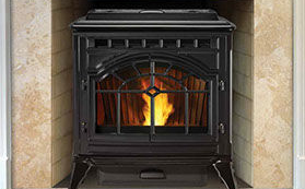 Patio Shop - Fireplace Center | Fireplaces | Quadra-Fire Fireplace Products | Quadra-Fire Mt. Vernon AE Pellet Stove