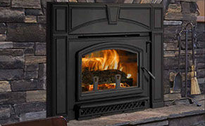 Patio Shop - Fireplace Center | Fireplaces | Quadra-Fire Fireplace Products | Voyager Grand Wood Burning Fireplace Insert