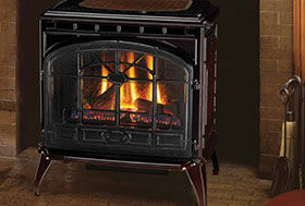 Patio Shop - Fireplace Center | Fireplaces | Quadra-Fire Fireplace Products | Topaz Gas Fireplace Stove