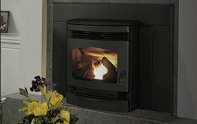 Patio Shop - Fireplace Center | Fireplaces | Quadra-Fire Fireplace Products | Santa Fe Gas Fireplace Insert