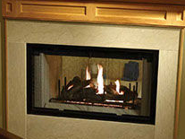 Patio Shop - Fireplace Center | Fireplaces | Heatilator See-Through Wood Burning Fireplace