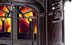 Patio Shop - Fireplace Center | Vermont Castings Fireplaces | Cast-Iron Wood Burning Stove