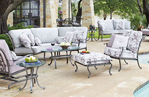 Patio Shop - Fireplace Center | Patio Furniture | Woodard Patio Furniture | Aluminum Collections | New Orleans