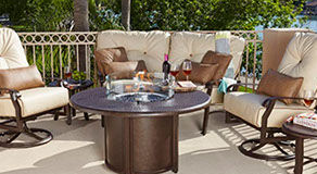 Patio Shop - Fireplace Center | Patio Furniture | Woodard Patio Furniture | Wrought Iron Collection