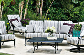 Patio Shop - Fireplace Center | Patio Furniture | Woodard Patio Furniture | Aluminum Collections | Wiltshire