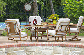 Patio Shop - Fireplace Center | Patio Furniture | Woodard Patio Furniture | Aluminum Collections | Glade Isle