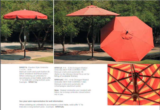 Patio Shop - Fireplace Center | Patio Furniture | Winston Patio Decor and Accessories | Umbrella and Bases