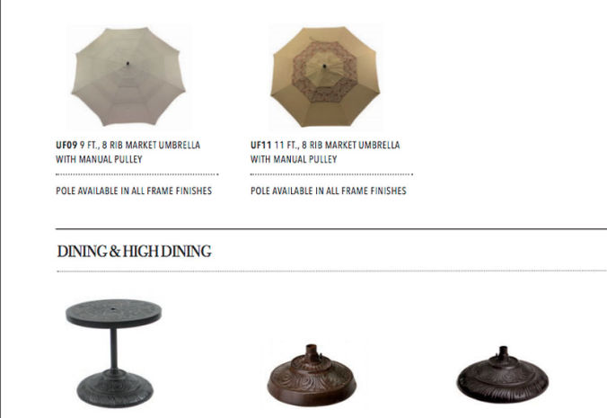 Patio Shop - Fireplace Center | Patio Furniture | Pride-Castelle Patio Decor and Accessories | Umbrellas and Bases
