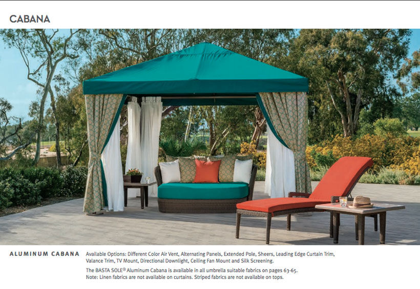 Patio Shop - Fireplace Center | Patio Furniture | Tropitone Patio Decor and Accessories | Cabana Collection