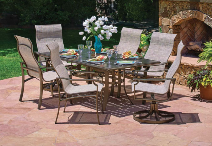 Patio Shop - Fireplace Center | Patio Furniture | Winston Patio Furniture | Sling Collections Stone Square